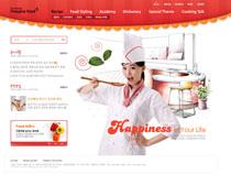 韓國廚師網站PSD源文件