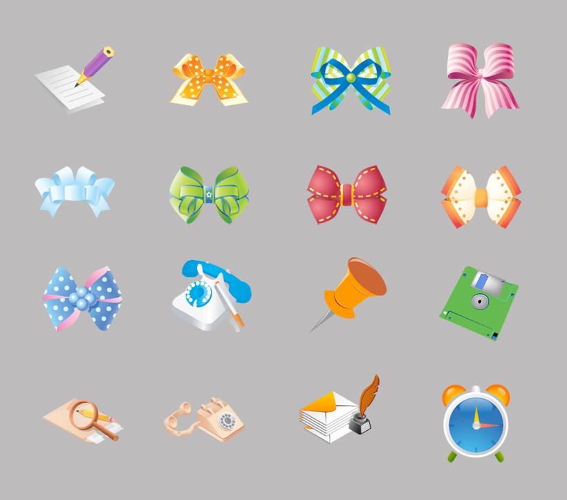 可爱的蝴蝶结png图标
