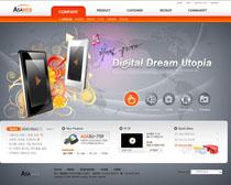 公司科技数码网站PSD源文件