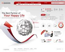 韩国公司网站设计PSD源文件