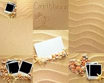 细沙背景与照片高清图片