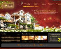 花園別墅網站設計PSD源文件