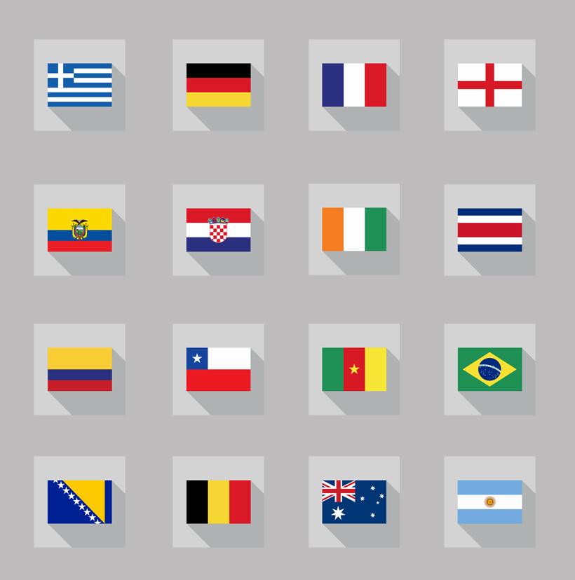 超清世界各国的国旗png图标