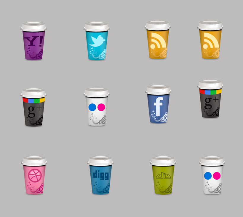 饮料杯子系列系统png图标