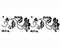 古典花紋移門圖案PSD素材