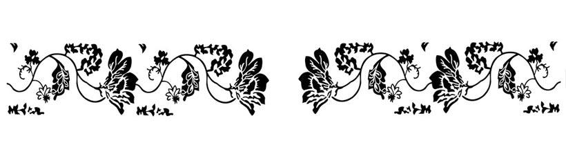 古典花纹移门图案psd素材