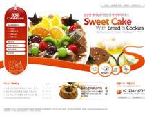 冰淇淋甜品美食网站PSD源文件