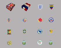 高清世界各国足球队队徽第一辑PNG图标
