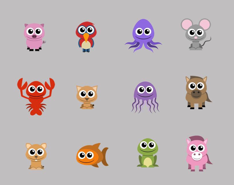 twitter可爱的小动物png图标  关键字: 大眼睛卡通动物小动物猫头鹰鱼图片