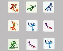 高清冬奥会滑冰项目PNG图标