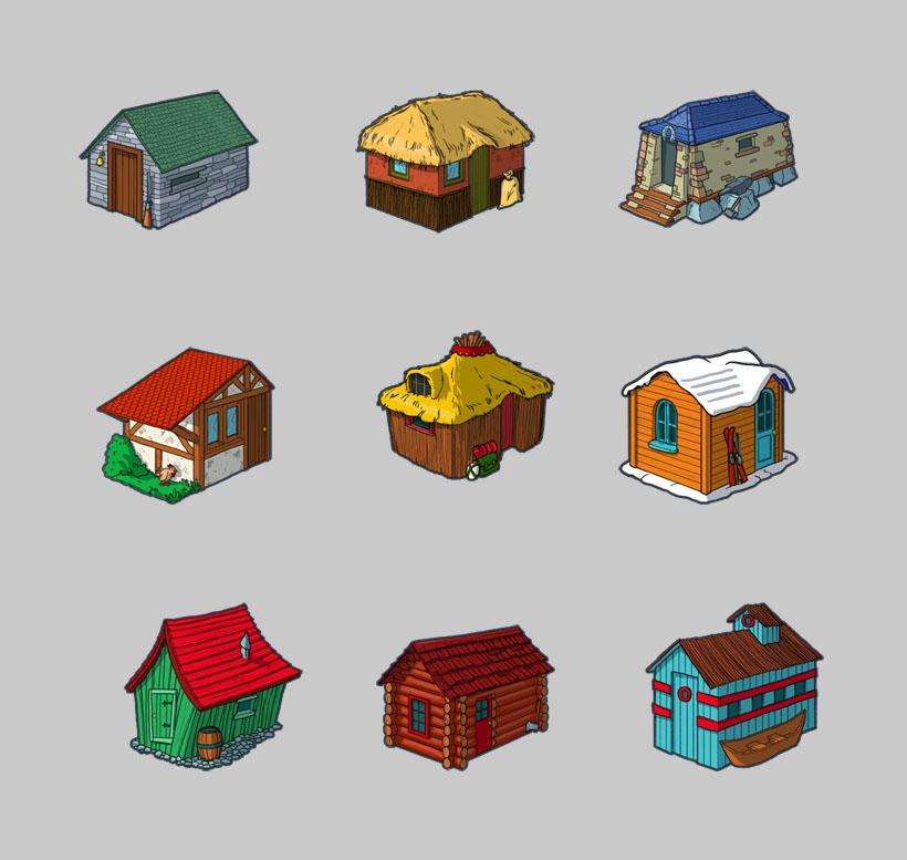 精致的小木屋png图标