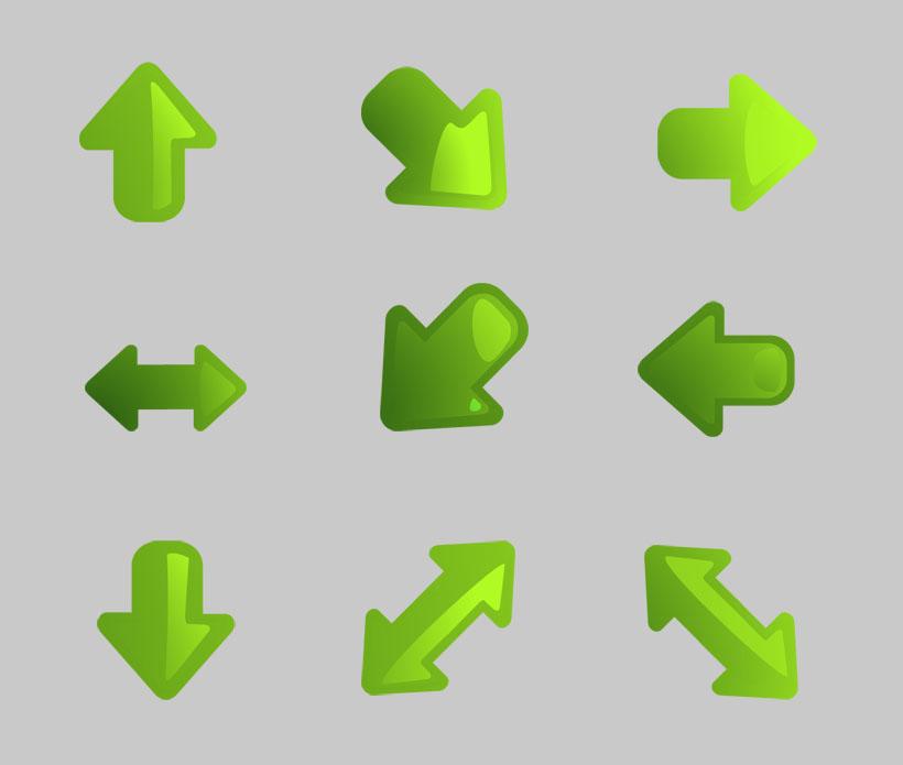 绿色的箭头png图标