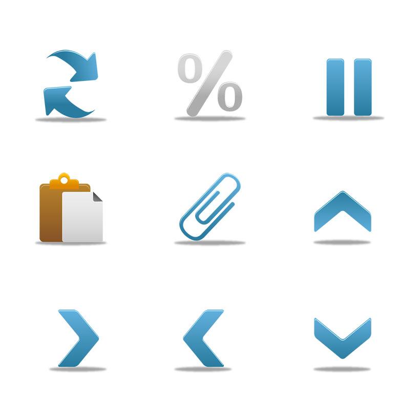 爱图首页 图标素材 生活图标 office 办公 回形针 便签 符号 文件夹图片