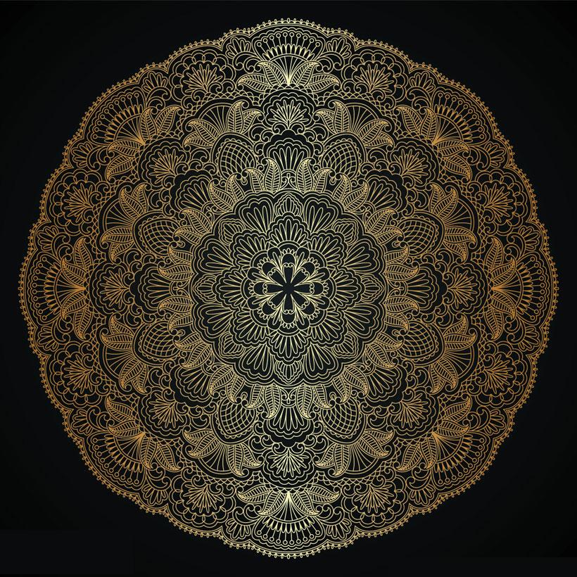 圆形花纹矢量素材