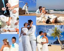 新婚海边情侣摄影高清图片