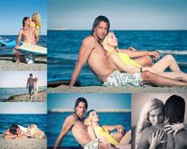 海滩边的浪漫情侣人物时时彩娱乐网站