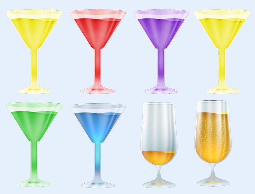 玻璃高脚酒杯png图标