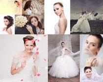 漂亮的婚纱女人摄影高清图片