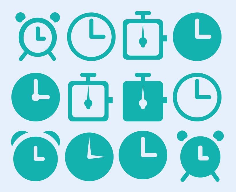 平面设计图标待机时间长