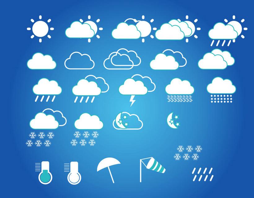 天气预报标志矢量素材