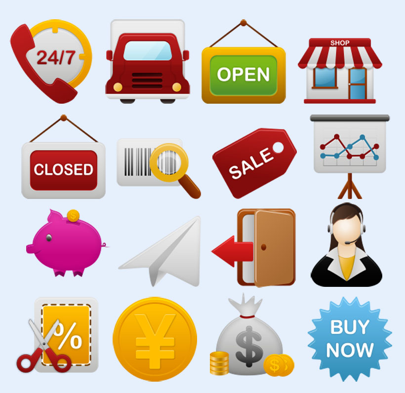 高清淘宝商城购物png图标