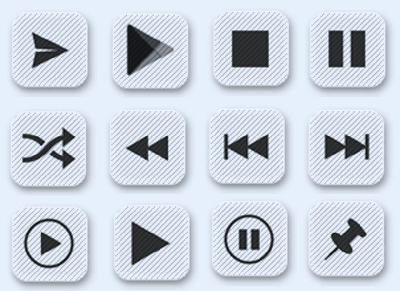 常用播放器按钮png图标图片