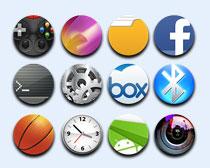 清新圆形苹果手机主题png图标