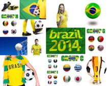 巴西足球世界球摄影高清图片