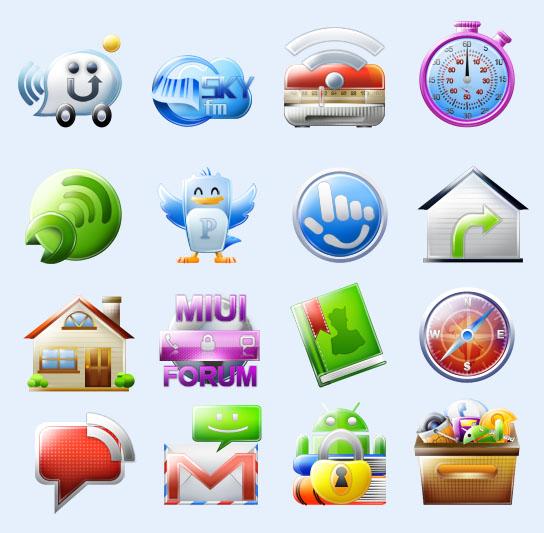 常用半透明app应用png图标 - 爱图网设计图片素材下载