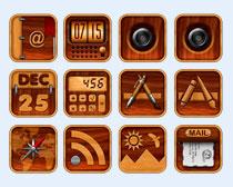 个性实木风格手机PNG图标