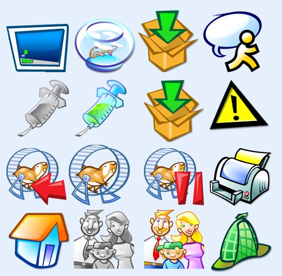 打印机 危险标志 电脑桌面 动物园 家人 小屋子 房子 app 手机图标