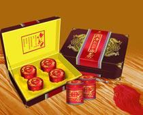 高档月饼礼盒包装设计PSD素材
