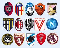 意大利多家足球俱乐部队标PNG图标