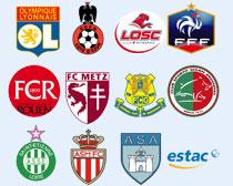 法国多家足球俱乐部队标PNG图标