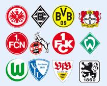 德国多家足球俱乐部队标PNG图标