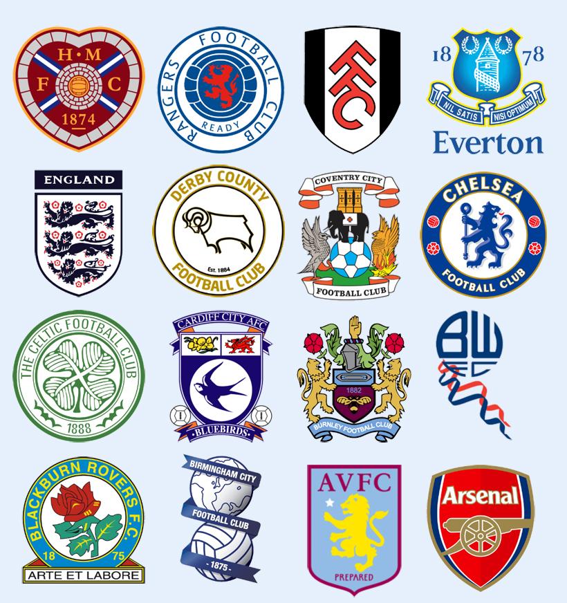 英国多家足球俱乐部队标png图标