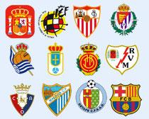 西班牙多家足球俱乐部队标PNG图标