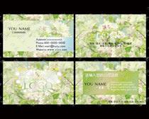 清爽花卉名片卡片设计PSD素材
