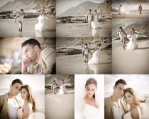 浪漫的海边情侣摄影高清图片