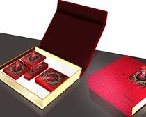 古典中秋月饼礼盒设计PSD素材