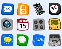 个性苹果手机系统PNG图标