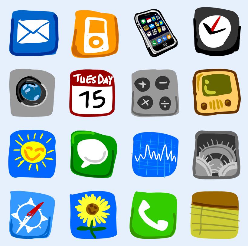 手机个性图标名称_