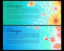 唯美鲜花花卉展板PSD素材