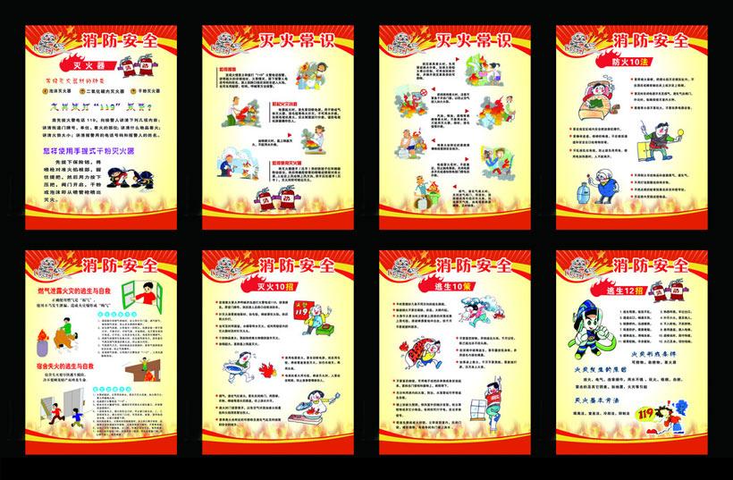 宣传展板安全展板生活常识防火安全消防常识119,119消防消防宣传社区图片