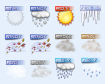 APP手机端天气预报PNG图标