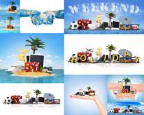 旅游風景線創意廣告高清圖片