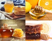 蜂蜜制作加工攝影高清圖片