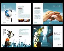 简洁企业文化宣传册设计PSD素材