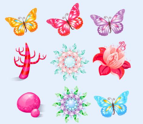 漂亮的蝴蝶png图标