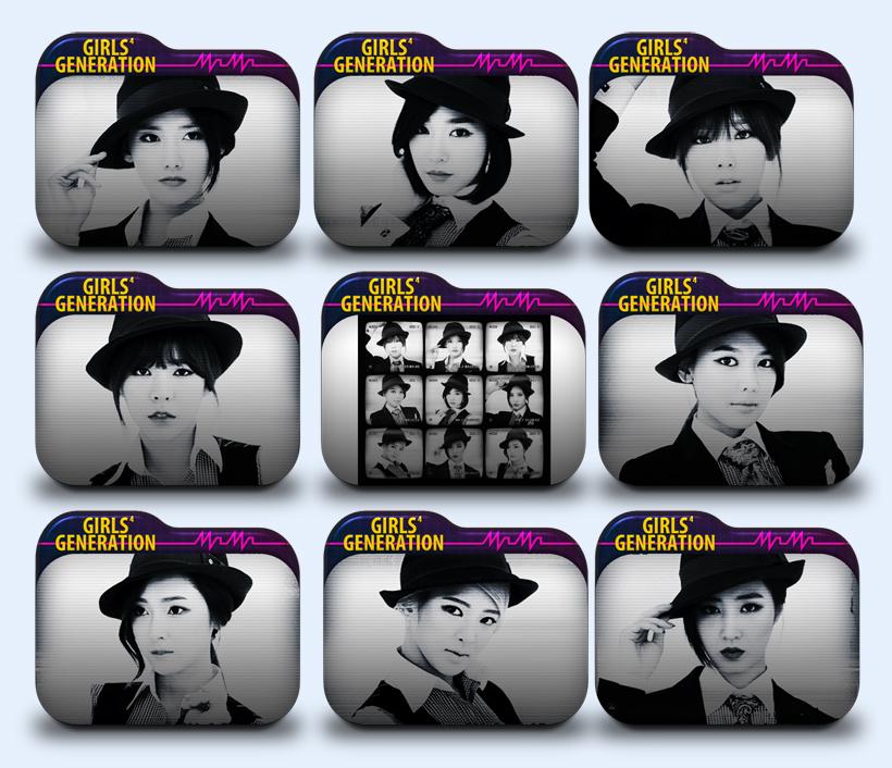 韩国女星文件夹png图标